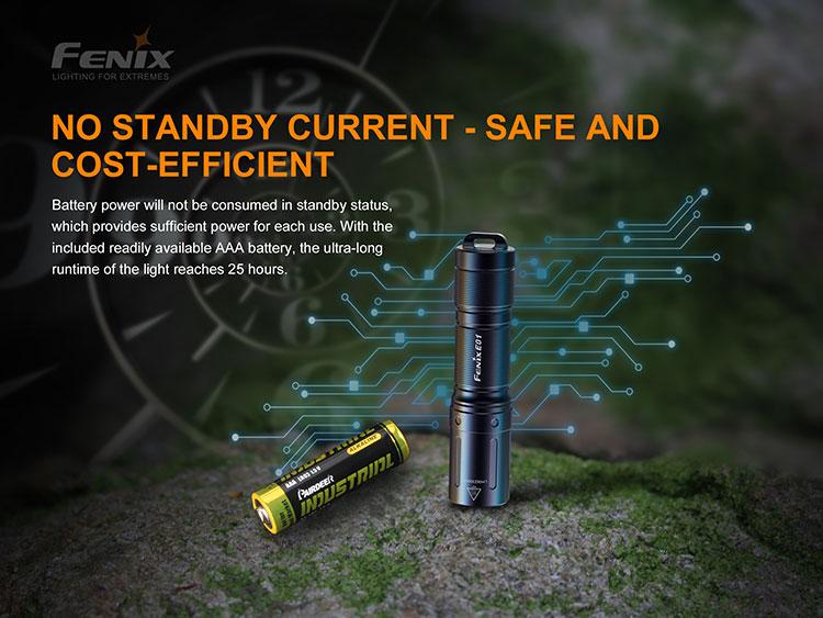 ไฟฉายพวงกุญแจ Fenix E01 V2.0