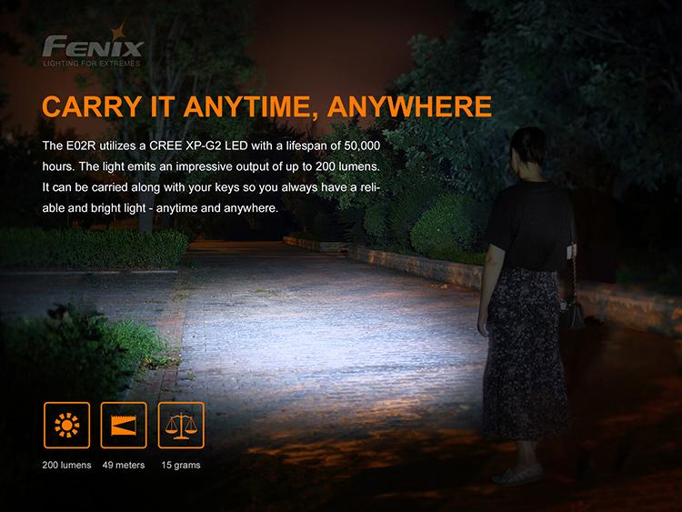 ไฟฉายพวงกุญแจ Fenix E02R