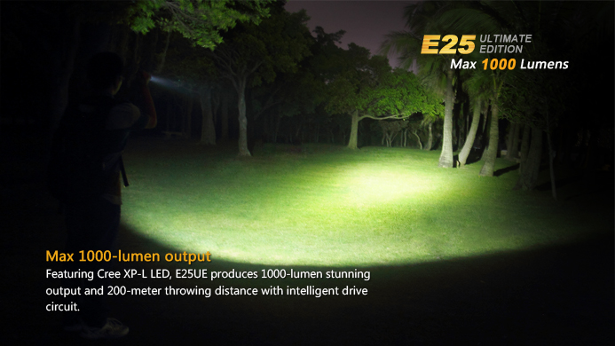 Fenix E25 Ultimate Edtion 1000 Lumens