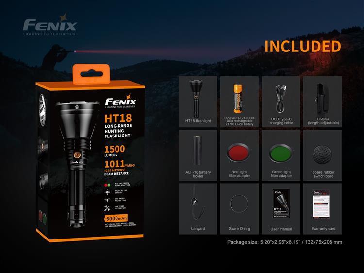 ไฟฉาย Fenix HT18