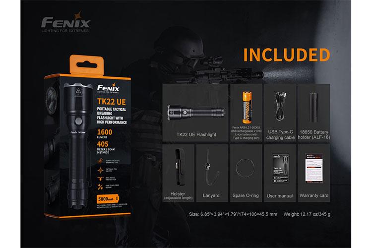 ไฟฉาย Fenix TK22 UE
