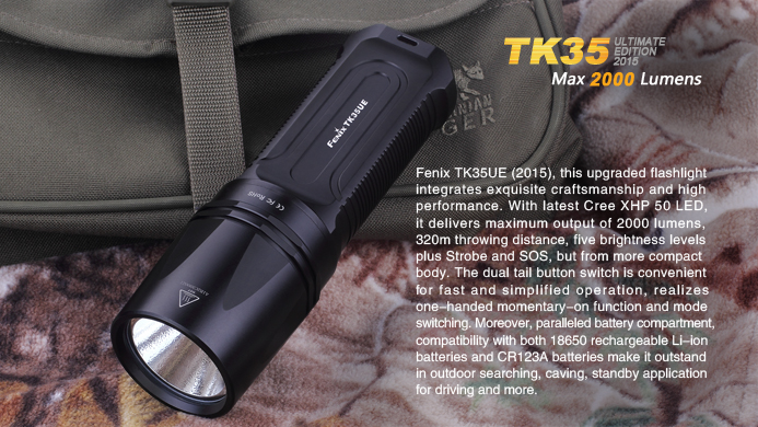ไฟฉาย Fenix TK35 Ultimate Edition 2015 2000Lumens