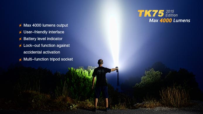 ไฟฉาย Fenix TK75 2015 Edition 4000 lumens