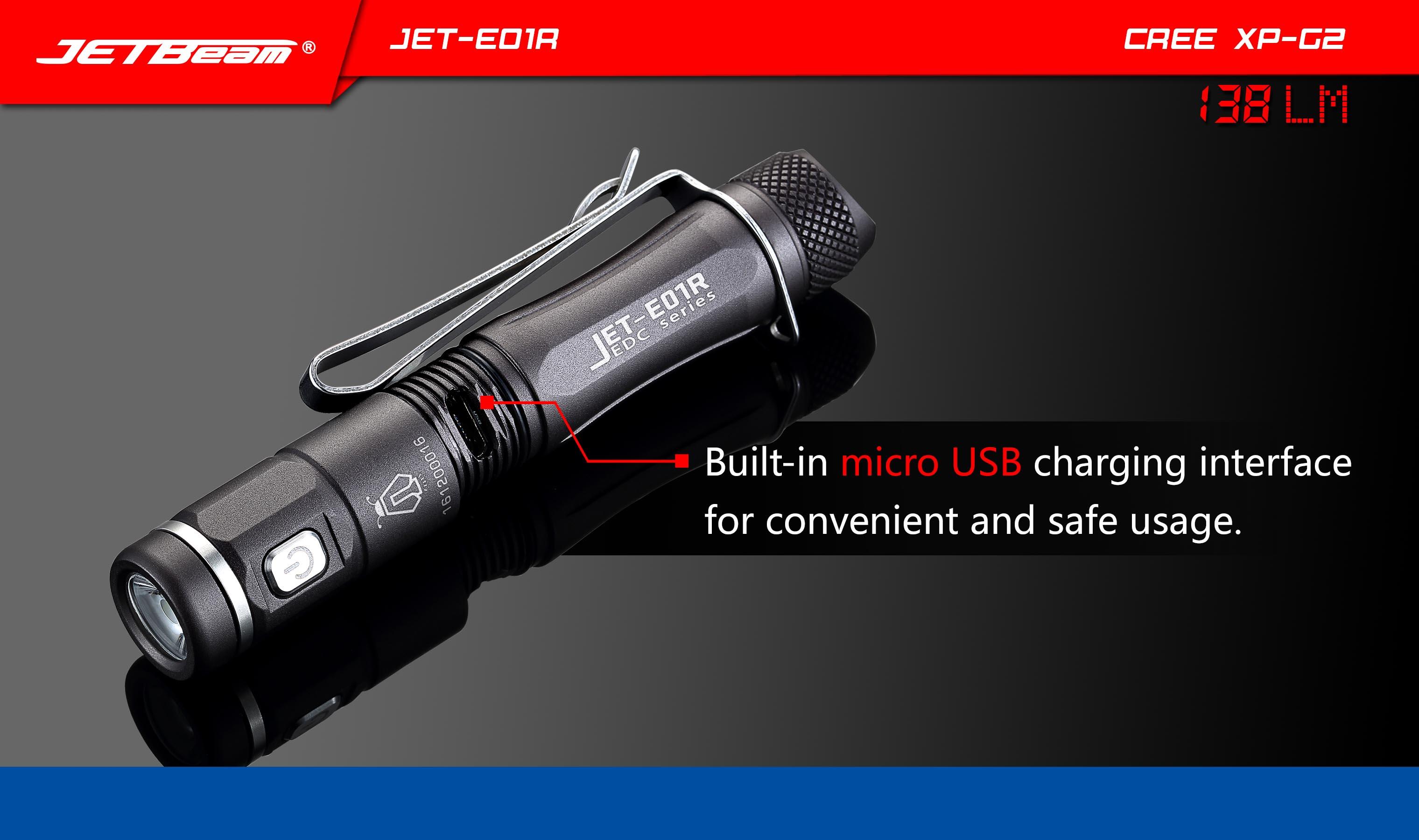 ไฟฉาย JetBeam E01R TITANIUM