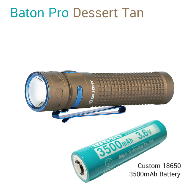 ไฟฉาย Olight Baton Pro Dessert Tan