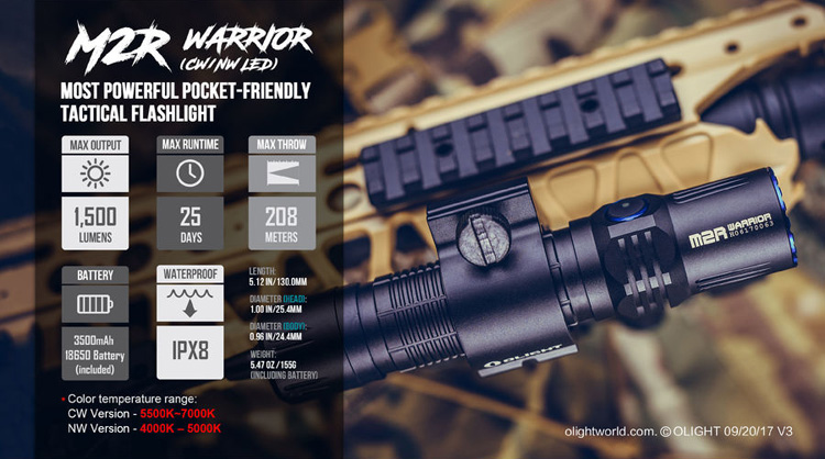 ไฟฉาย Olight M2R Warrior