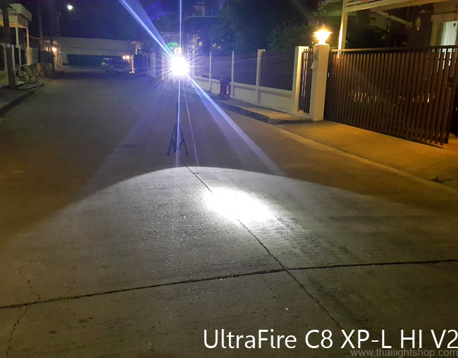 ไฟฉาย UltraFire C8 XP-L HI V2